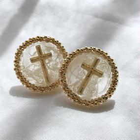 75 vintage grain round earrings