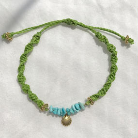 91 turquoise night green code bracelet