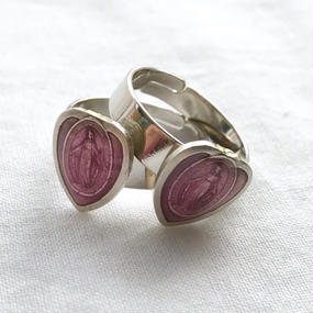 58 pink maria heart ring