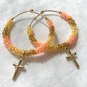 55 sunset beach beads hoops