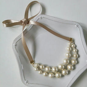 cottonpearl×necklace
