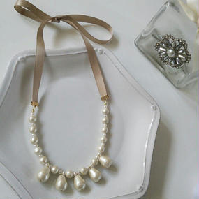 dropcottonpearl×necklace