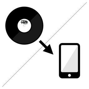 レコードをデジタル音源に変換します