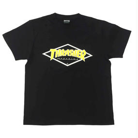 "Keith Haring × THRASHER Unisex T-Shirts ""Skater ""  Black × Yellow"