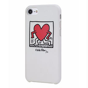 Keith Haring Collection PU Case for iPhone 7 (Running Heart)