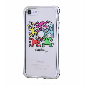 Keith Haring Collection TPU Case for iPhone 7 (Hexagon Figs)