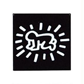 Keith Haring Rectangular Magnet  ( Radiant Baby )  Black
