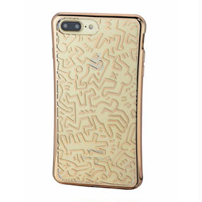 Keith Haring Collection TPU Case for iPhone 7 Plus (Chaos/Metallic  Gold)