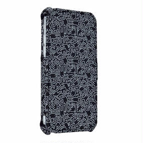 Keith Haring Collection Flip Cover for iPhone 7 (Peopla/Black × White)