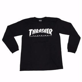 Keith Haring × THRASHER 35th Long Sleeve T-shirt  Black