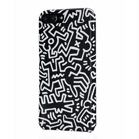 Keith Haring Collection PU Case for iPhone 7 Plus (Chaos/Black × White)