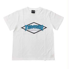 "Keith Haring × THRASHER Unisex T-Shirts ""Skater ""  White × Blue"