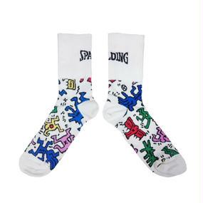 SPALDING x Keith Haring Socks  White