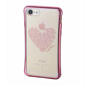 Keith Haring Collection TPU Case for iPhone 7 (Heart/Metallic Rose Gold)