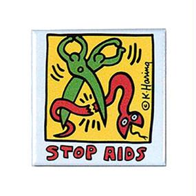 Keith Haring Rectangular Magnet  ( Stop AIDS)