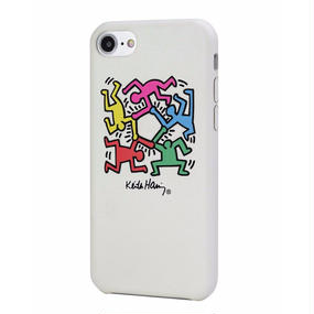 Keith Haring Collection PU Case for iPhone 7 (Hexagon Figs)