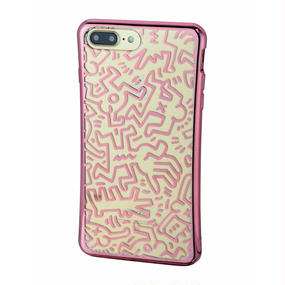 Keith Haring Collection TPU Case for iPhone 7 Plus (Chaos/Metallic Rose Gold)