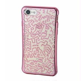 Keith Haring Collection TPU Case for iPhone 7 (Chaos/Metallic Rose Gold)
