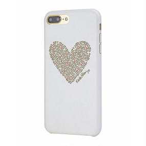 Keith Haring Collection PU Case for iPhone 7 Plus (Heart/White × Gold)
