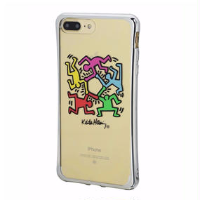 Keith Haring Collection TPU Case for iPhone 7 Plus (Hexagon Figs)