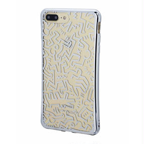Keith Haring Collection TPU Case for iPhone 7 Plus (People/Metallic Silver)