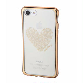 Keith Haring Collection TPU Case for iPhone 7 (Heart/Metallic Gold)