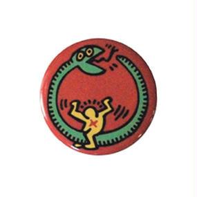 Keith Haring Round Magnet (Snake)
