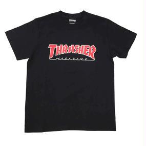 "Keith Haring × THRASHER Unisex T-Shirts ""TV ""  Black"