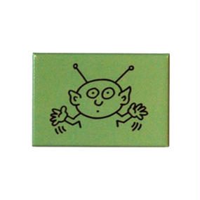 Keith Haring Rectangular Magnet  (Alien)