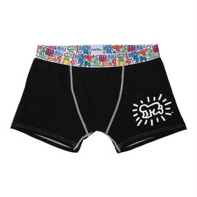 Clothmania x Keith Haring  メンズ ボクサーパンツ(Black/Baby)
