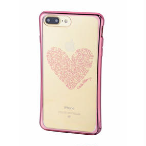 Keith Haring Collection TPU Case for iPhone 7 Plus (Heart/Metallic Rose Gold)