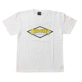 "Keith Haring × THRASHER Unisex T-Shirts ""Skater ""  White × Yellow"