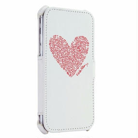 Keith Haring Collection Flip Cover for iPhone 7 (Heart/Red x White)