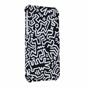 Keith Haring Collection Flip Cover for iPhone 7 (Chaos/Black × White)