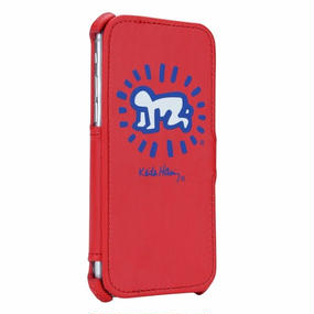 Keith Haring Collection Flip Cover for iPhone 7 (Baby Symbol/Red)