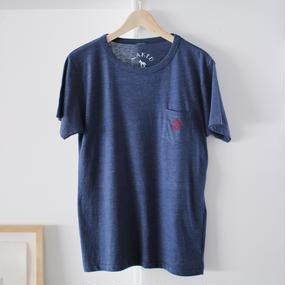 【SALE】Pocket Tshirts Heather Navy
