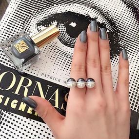 Bi-Colored Pearl With Zirconia  Pave Ring (925ジルコニアパヴェ付き バイカラーパールリング)
