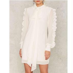 Ribbon Tied Blouse Dress (リボンタイ ブラウスワンピース)
