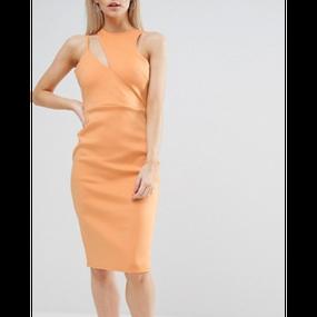 Cut Out Neck Asymmetric Dress (アシンメトリーカットアウトワンピ)