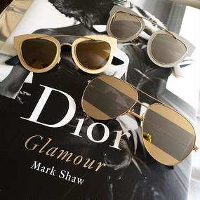 "Metallic Sunglasses ""SPLIT"" (バイカラーミラードサングラス ""スプリット"")"