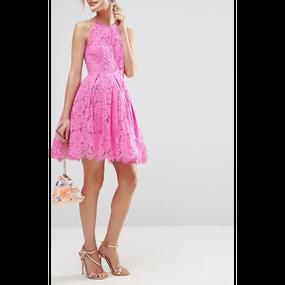 Lace Mini Prom Dress (ミニ丈 レースプロムワンピ)