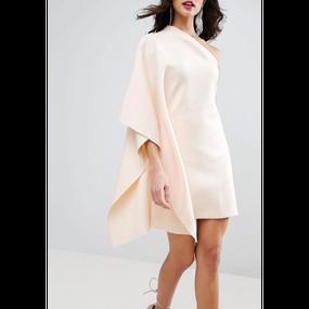 【Back In Stock!!再々入荷】One Shoulder Cape Dress (ワンショルダーケープワンピ)