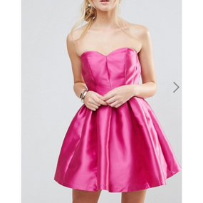 Structured Bandeau Mini Dress (バンドゥベアトップワンピース)