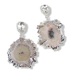 Crystal Quartz Stone Earrings (クリスタルアゲートピアス)