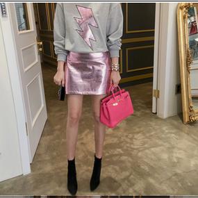 Glossy A-Lined Mini Skirt (グロッシーAラインスカート)