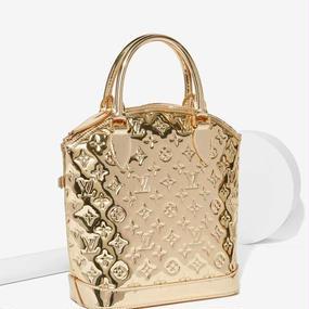 ①【¥369,000】Gold Mirrored Monogram Handbag (ミロノワール) /LOUIS VITTON (ルイヴィトン)