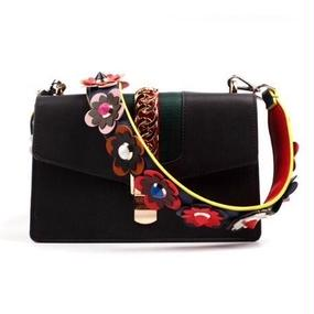 Color Leather Strap With Multi Color Flower (マルチカラーフラワー レザーストラップ  )
