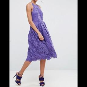 Lace Midi Prom Dress (ミディ丈 レースプロムワンピ)