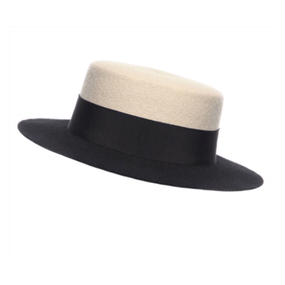 【SALE!!】¥56,800→¥46,800  Bi-Colord Boater Hat (バイカラーボーターハット)/ Eshvi for 7ll