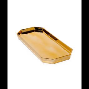 Gold Tone Finish Deco Plate (ゴールドトーンデコプレート)